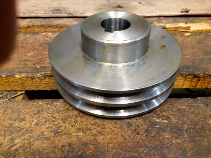 изготовление двухручейного шкива со ступицей и пазом на заказ, сталь 40Х