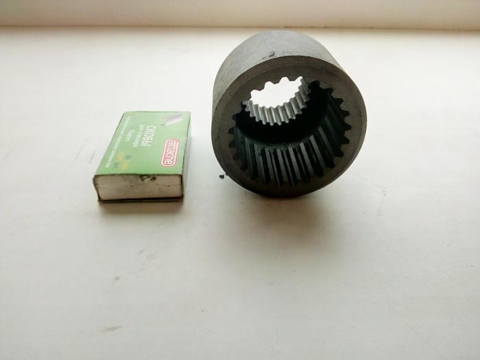 изготовление шлицевой втулки на заказ, термическая обработка HRC=45 единиц