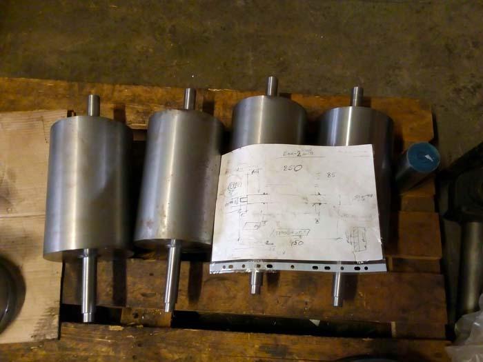 изготовление протяжных валков по эскизу заказчика, проточка, шлифовка
