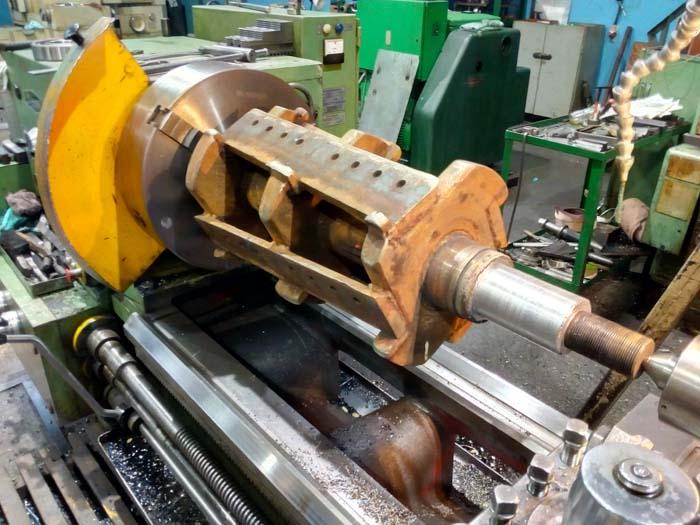 ремонт цапфы дробилки (шейки вала)