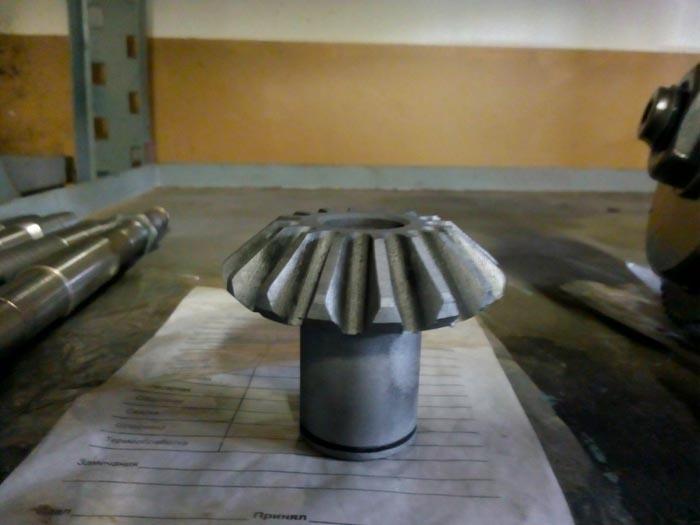 изготовление конической шестерни с круговым зубом