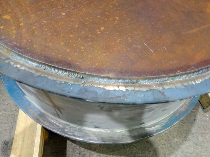 приварка листа к щеке барабана