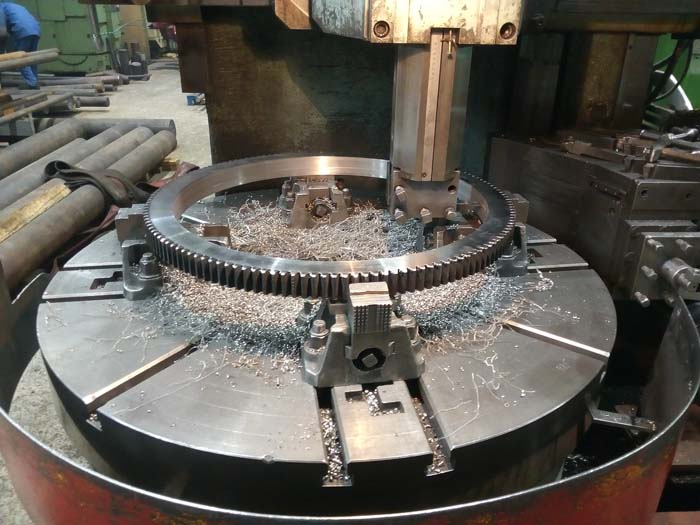 изготовление зубчаго венца большого диаметра для шестерни