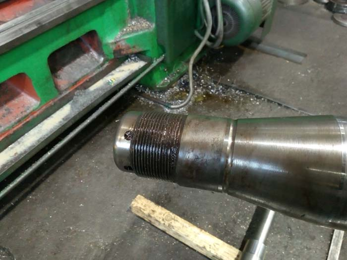 ремонт резьбы оси полуприцепа