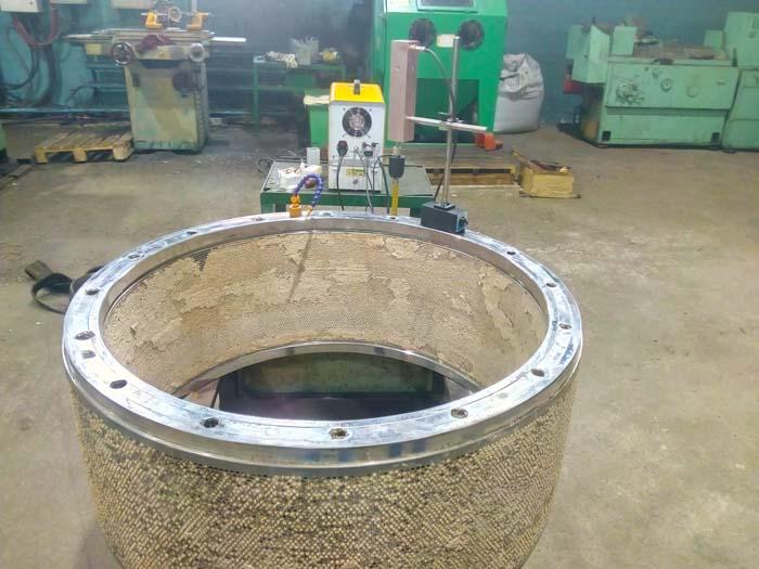 ремонт резьбовых отверстий барабана гранулятора