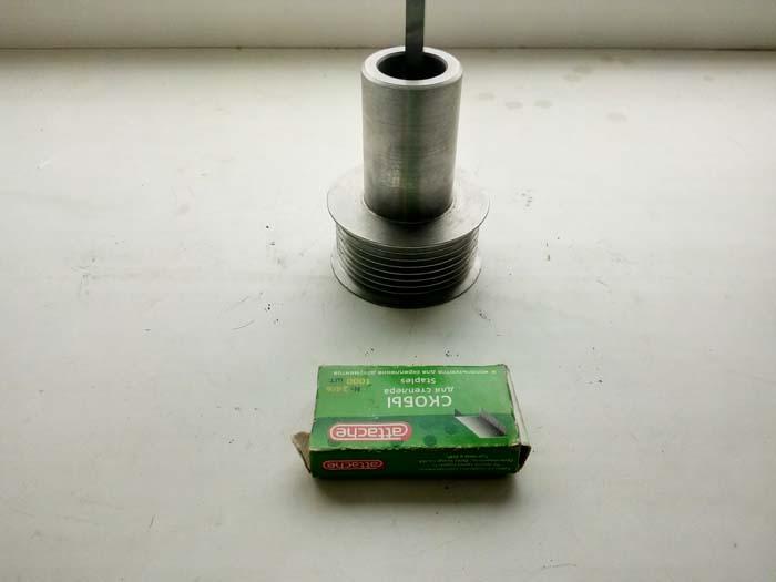 изготовление шкива со ступицей и шпоночным пазом