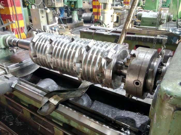 ремонт посадок вала под подшипники промышленного шредера